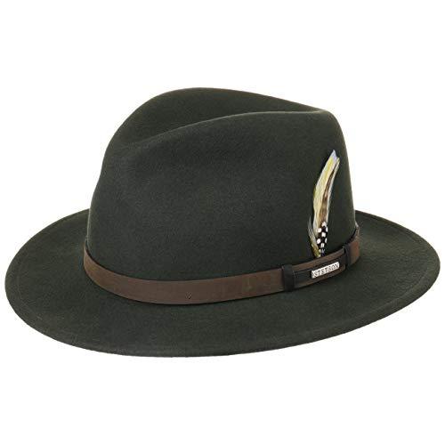 Stetson Sombrero VitaFelt Sardis Mujer/Hombre - Made in USA Banda de Piel Sombreros Caza con...