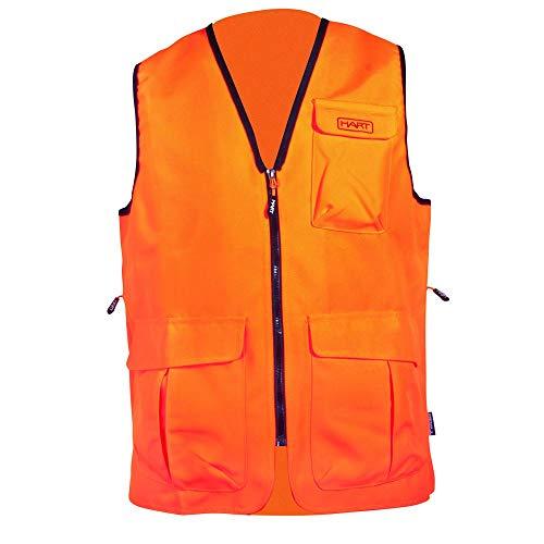 HART Wild V - Chaleco de Caza para Hombre, Color Naranja, Talla L